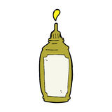 Cartoon mustard bottle Stock Image