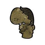 Cartoon mutant head Stock Image