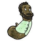 Cartoon mutant man Stock Photography