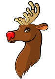 Cartoon muzzle reindeer Stock Photography