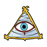 Cartoon mystic eye symbol Royalty Free Stock Photography