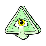 Cartoon mystic eye symbol Royalty Free Stock Photo