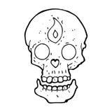 Cartoon mystic skull Stock Photography
