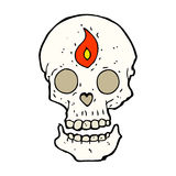 Cartoon mystic skull Stock Photography