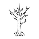 cartoon naked tree Stock Image