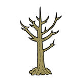 cartoon naked tree Stock Images