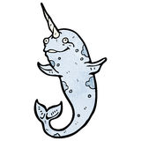 Cartoon narwhal Royalty Free Stock Photography