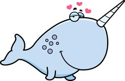 Cartoon Narwhal in Love Royalty Free Stock Photo