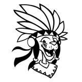Cartoon Native American character coloring book. Vector illustration of native american chief Vector Illustration