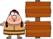 Cartoon Native American Sign Royalty Free Stock Photography