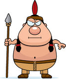 Cartoon Native American Spear Royalty Free Stock Image