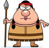 Cartoon Native American Spear Stock Photography