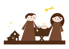 Cartoon nativity scene Stock Image