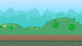 Cartoon natural landscape  background Royalty Free Stock Photos
