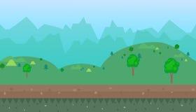 Cartoon natural landscape  background Royalty Free Stock Photos