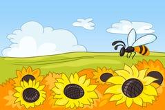Cartoon Nature Landscape Royalty Free Stock Photo
