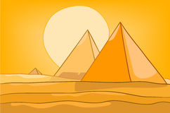 Cartoon Nature Landscape Pyramid Royalty Free Stock Photography