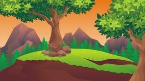 Nature landscape, cartoon game background royalty free stock image