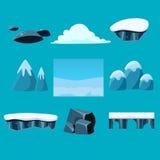 Cartoon nature landscape, vector unending Royalty Free Stock Image