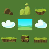 Cartoon nature landscape, vector unending Stock Image