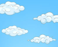 Cartoon Nature Sky Clouds Stock Photography