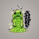 Cartoon Nausea Monster Royalty Free Stock Photo