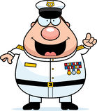 Cartoon Navy Admiral Idea Stock Photo