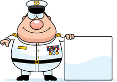 Cartoon Navy Admiral Sign Stock Images