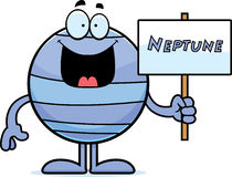 Cartoon Neptune Sign Royalty Free Stock Images