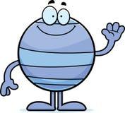 Cartoon Neptune Waving Royalty Free Stock Photo