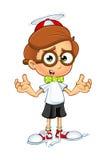 Cartoon Nerd Boy Character Royalty Free Stock Photo