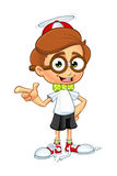 Cartoon Nerd Boy Character Stock Image