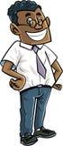 Cartoon nerd office worker stock photography