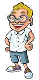 Cartoon of nerdy boy Stock Photography