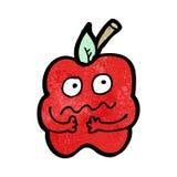 Cartoon nervous apple Royalty Free Stock Photography