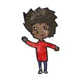 Cartoon nervous boy Stock Photo