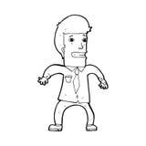 Cartoon nervous businessman Royalty Free Stock Photography