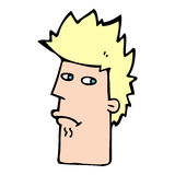 Cartoon nervous expression Stock Photo