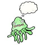 Cartoon nervous jellyfish Stock Photos