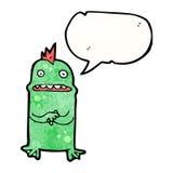Cartoon nervous little monster Royalty Free Stock Photos