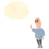 Cartoon nervous man Royalty Free Stock Images