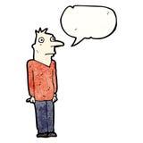 Cartoon nervous man Stock Photography