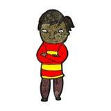 Cartoon nervous man Stock Photo