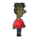 Cartoon nervous man Royalty Free Stock Photo