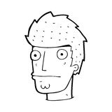 Cartoon nervous man Royalty Free Stock Photography