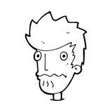 Cartoon nervous man Royalty Free Stock Photos