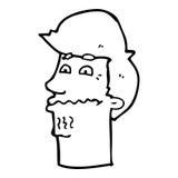 Cartoon nervous man Stock Photos