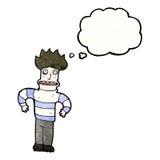 Cartoon nervous man Stock Image