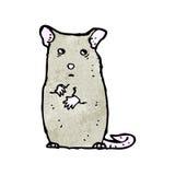 Cartoon nervous mouse Stock Photos