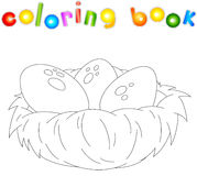 Cartoon nest coloring book Stock Image